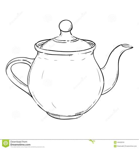 doodle sketch vector free vector sketch of doodle kettle stock vector image 49459318