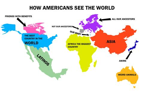 The World I See how americans see the world by kevex777 on deviantart