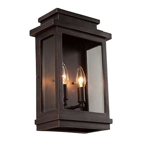 Outside House Lighting Fixtures Filament Design Moravia 2 Light Rubbed Bronze Outdoor Sconce Cli Acg816473 The Home Depot