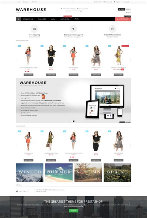 10 ecommerce shopping prestashop themes