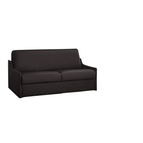 canapé convertible 120 cm canap 233 convertible cuir recycl 233 marron 120cm achat