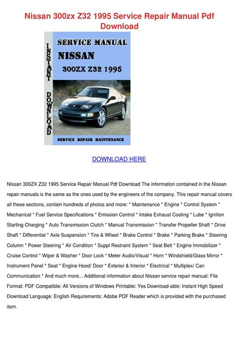 service manuals schematics 1995 nissan 300zx interior lighting nissan 300zx z32 1995 service repair manual p by yvonnetaber issuu