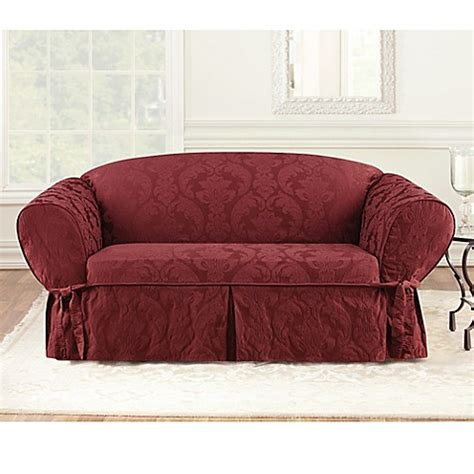 sure fit matelasse damask sofa slipcover buy sure fit 174 matelasse damask 1 piece sofa slipcover in