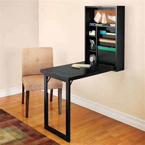 Wall Mounted Folding Desk by 14 Inegiously Smart Space Saving Furniture Ideas