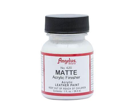 angelus paint matte finisher above ground supplies angelus acrylic matte finisher 1oz