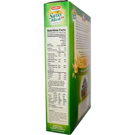 Original Swiss Muesli No Added Sugar familia swiss muesli no sugar added 32 oz evitamins