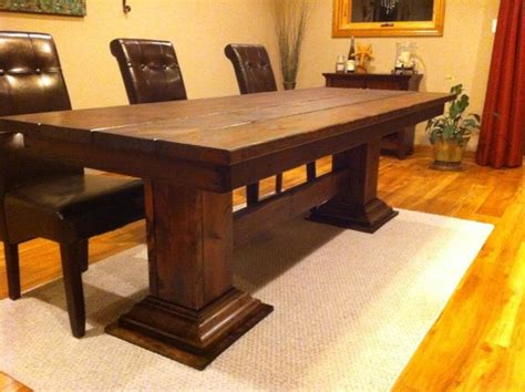 eclectic dining tables double pedestal leg table eclectic dining tables