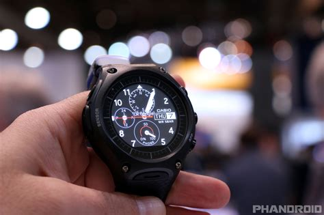 rugged smartwatch casio s rugged android wear goes on sale today as the og lg urbane takes its exit