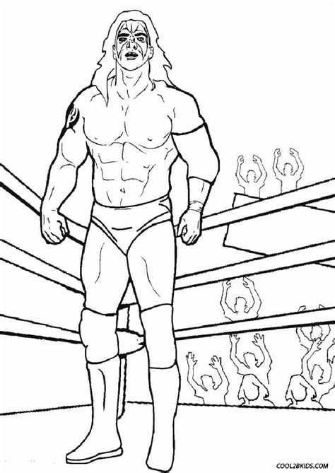 Coloring Pages Of Wwe Wrestlers Coloring Home Wrestler Coloring Pages