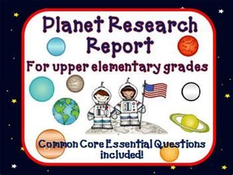 Planet Research Project Outline by Planet Research Report