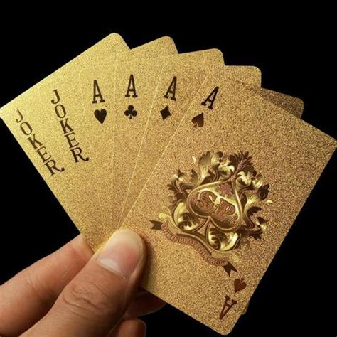 24k gold foil playing cards with certificate faraday
