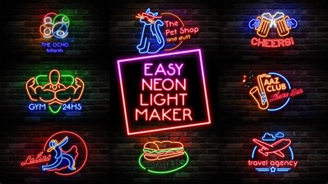Neon Design Maker | easy neon lights maker by pressrender videohive