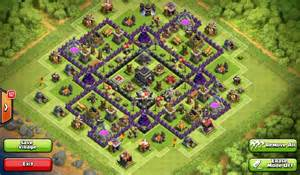 Town hall war defense top 10 clash of clans town hall level 9