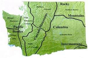 Washington Mountains Map by Similiar Map Of Washington Mountain Ranges Keywords