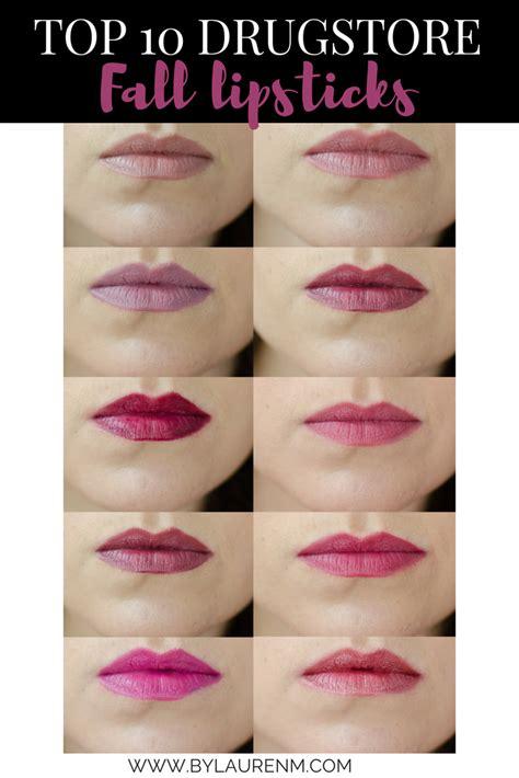 fall color lipsticks best drugstore fall lipsticks by m