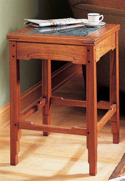 greene and greene style side table popular woodworking