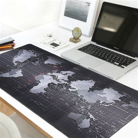 large desk mouse mat 800x300x2mm large size world map mouse pad for laptop