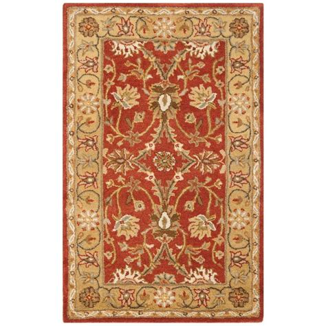 4 Foot Rugs by Safavieh Antiquity Rust Gold 4 Ft X 6 Ft Area Rug At249c