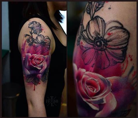 watercolor tattoo warszawa tymur lysenko poland tattoos trash polka and others