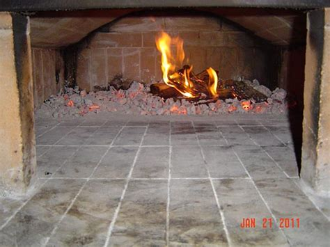 wood burning oven built  roof cover