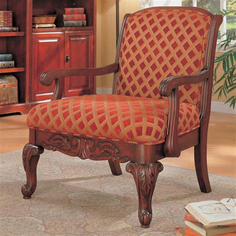 antique and vintage upholstered and gold accent chair