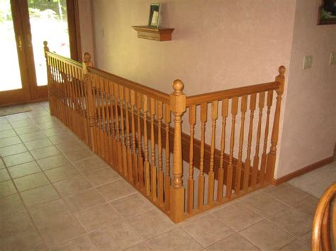Oak Banisters by Donald Haller Jr Builder And Remodeler Custom Wood