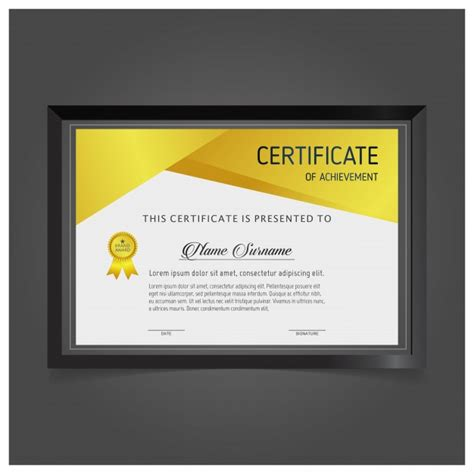 modern certificate templates modern certificate template vector free