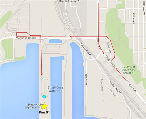 seattle map pier 91 dropping passengers at seattle cruise ports pier 66