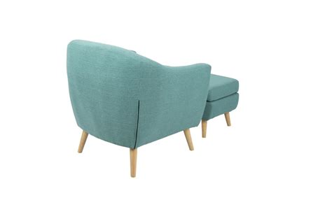 Teal Chair With Ottoman by Rockwell Mid Century Modern Chair With Ottoman In Teal By