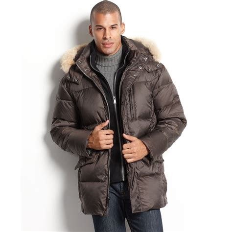New Marc Gliter Brown marc new york alpine parka with fur trimmed removable in brown for lyst