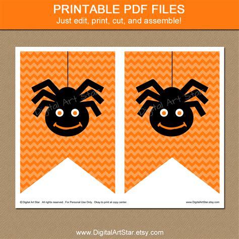 printable halloween banner decorations digital art star printable party decor october 2014