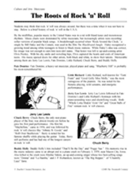 printable music lesson plans history of rock and roll the roots of rock n roll printable 5th 8th grade