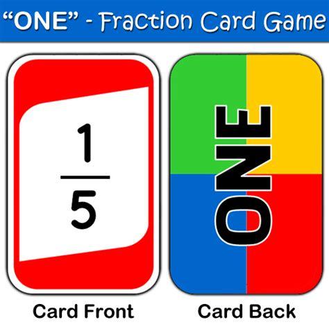 fraction card game best teacher resources blog
