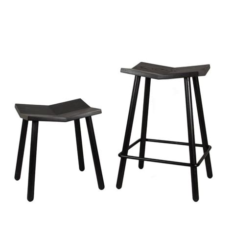 modern black mitre wooden stool contemporary counter modern black mitre wooden stool from souda contemporary