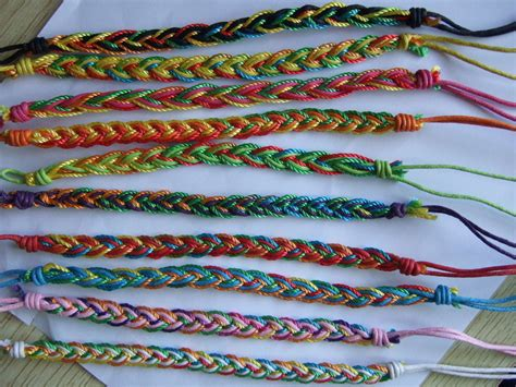Handmade Threads - lot 20 pcs colourful thread handmade surfer woven