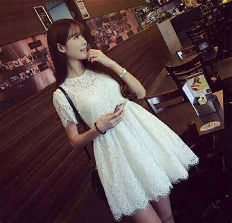 Minni Dress Murah mini dress brukat putih cantik model terbaru murah
