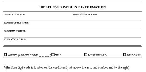 credit card information template 5 credit card authorization form templates formats