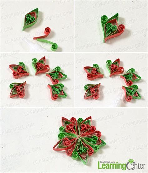 Steps To Make Paper Quilling - how to make a pair of and green quilled paper