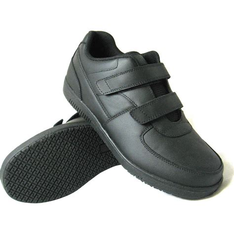 mens velcro athletic shoes genuine grip slip resistant velcro closure athletic work
