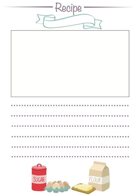 recipe paper template 17 best images about recipe paper on back to