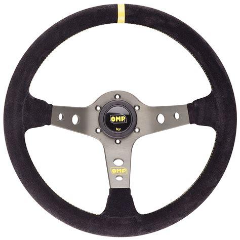 omp sections omp corsica steering wheel suede 350mm black titanium ebay