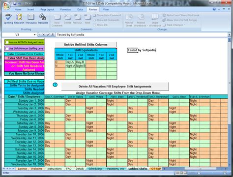 Download Schedule Rotating Shifts And Tasks 5 25 2 Shift Schedule Template