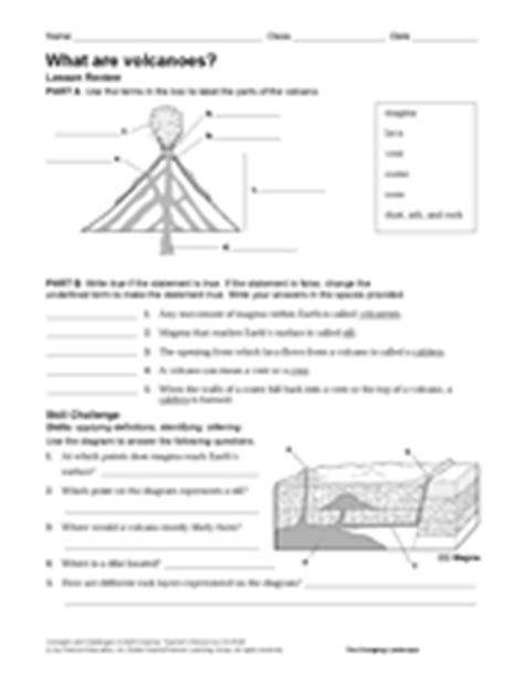 printable volcano quiz what are volcanoes natural disasters printable 6th 12th