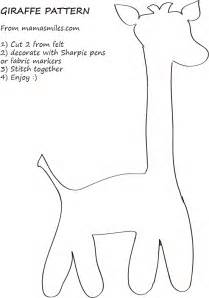 Giraffe Printable Template by Easy Giraffe Sewing Pattern And Giraffe Coloring Page