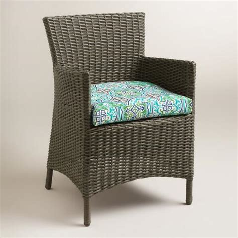 Patio Cushions World Market Gabriella Tile Gusseted Outdoor Chair Cushion World Market