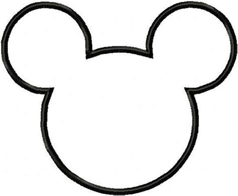 Mickey Mouse Silhouette Template by Mini Minnie Mouse Birthday On A Budget By