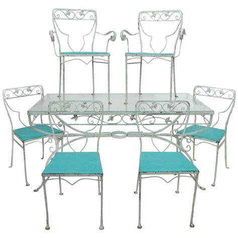7 wrought iron patio set 7 salterini patio dining set garden wrought iron