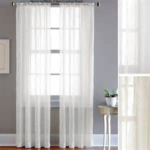 Sheer Window Curtains Pintuck Sheer Voile Curtain Panels