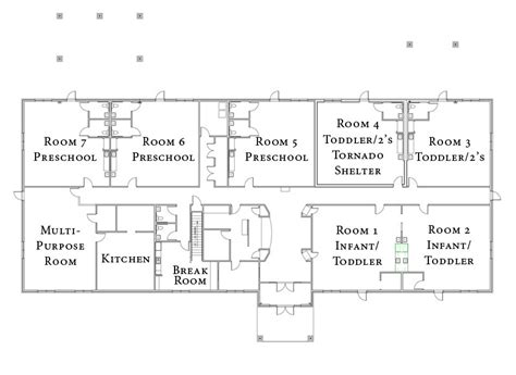 floor plan of child care centre sle child care center floor plans home fatare