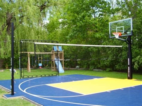 backyard sports courts residential sport backyard game court contemporary